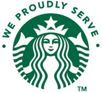 Proudly serving Starbucks coffee