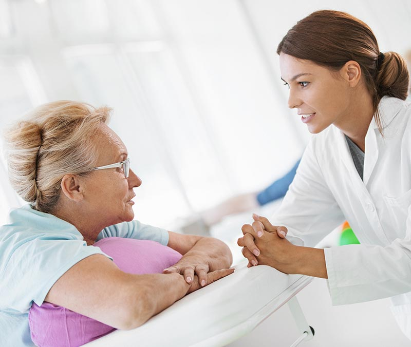 Woman receiving complex care services in Aurora, Colorado
